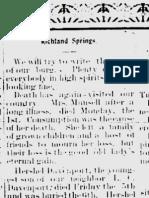 Munsell, Mrs. 11 Dec 1902 p 1 Richland Spr