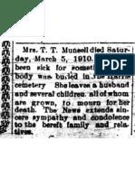 Munsell, Mrs. T.T. 10 Mar 1910 p 11
