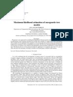 Von Heydebreck a.-maximum Likelihood Estimation of Oncogenetic Tree Models (2004)