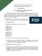 Al Sp 2012 Analista Legislativo e Tecnico Legislativo Justificativa