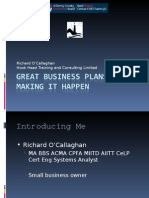 1  Writing a Business Plan
