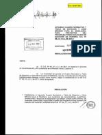 Cuadro Normativo y Tabla de Espacios y Usos Mínimos Fondo Solidario Vivienda 2012 MINVU