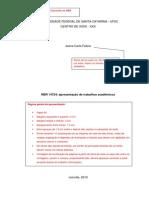 Modelo de Trabalho Academico