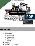 Emmeline Pankhurst Trabalho Goncalo Rocha 12B Ppt