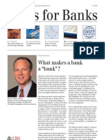 UBS Newsletter - What makes a bank a bank?
