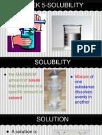 week 5- solubility