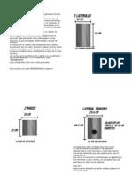 Cajon Peruano - Planos y Descripciones
