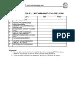 Senarai Semak Buku Laporan Unit Kokurikulum 2013