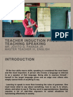 Teaching Speaking teachers induction program