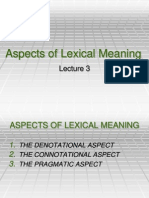 Aspect of Lexical Meaning school work