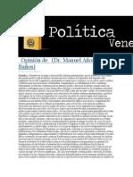 20-05-2014 Política Venezuela - Opinión de   (Dr. Manuel Añorve Baños).