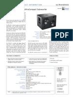 Meyer Sound - UMS-1XP - Úvodní Informace (en)