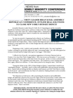 11-17-09 Press Release From NYS Assembly Minority Leader Brian Kolb, November 17, 2009