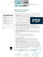 Sanitation Pre-req Program (Develop)