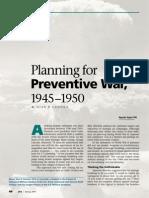 Planning for Preventive War- 1945-1950