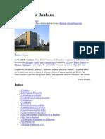 Resumen de Aportes de La Escuela de La Bauhaus