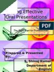 Making Effective Oral Presentations
