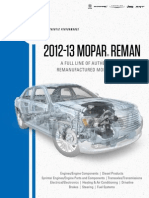 2012 2013 Mopar Reman Catalog