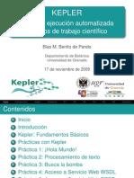 Diseño y ejecución de flujos de trabajo científico con Kepler (CURSO-PRESENTACIÓN)