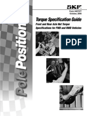 Torque Specification Guide: Front and Rear Axle Nut Torque