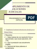 Cumplimiento de Resoluciones Judiciales