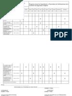 Programa Anual de Capacitación y Recorridos de Verificaciones de La Comisión de Seguridad e Higiene