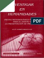 Investigar en Humanidades
