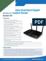 Archer D7 V1 Datasheet