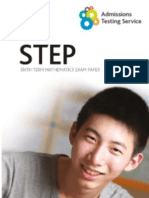 STEP Exam Leaflet