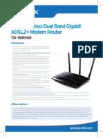 TD-W8980 V1 Datasheet