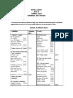 Balance Sheet Format