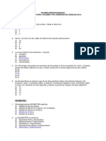 Reprogramado de Preguntas Para i Examen Tipo Admisión de Ciencias 2014