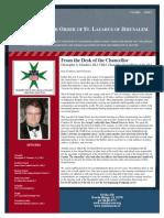 St. Lazarus Newsletter Vol 1 Iss 1