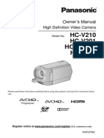 Panasonic V110 Video Camera