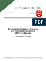 CEDES-Estudios de Posgrado en La Argentina