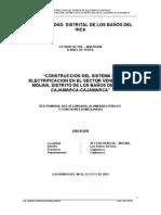 Snip - Sistema de Electrificacion en El Sector Venecia – La Molina, Distrito de Los Baños Del Inca-cajamarca-cajamarca
