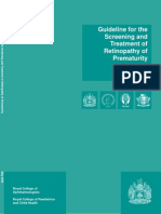 2008-SCI-021 Guidelines Retinopathy of Prematurity