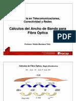 Calculos Ancho Banda FO