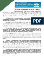 may28.2014.docSolon seeks passage of Customs Modernization Bill this 16th Congress