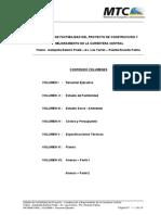 Volumen i Resumen Ejecutivo Estudio de Factibilidad