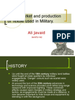 World Market and production of Textile used in Military