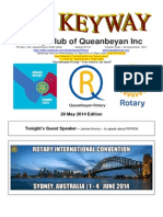 The Keyway - 28 May 2014 Edition - weekly newsletter for the Rotary Club of Queanbeyan