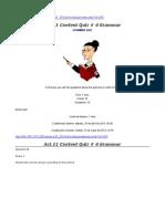 Act.11 Content Quiz # 4 Grammar