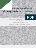 Principales Movimientos de Arquitectura e Historia