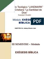 Seminario Landmark Exégesis Bíblica