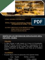 DISEÑO DE LOS METODOS DE EXPLOTACION MINA GIGANTE - MARSA.ppt
