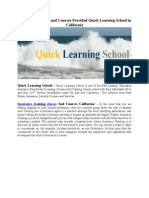Insurance Training and Courses Provided Quick Learning School in California