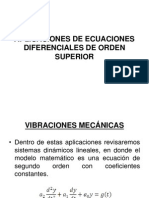 Aplicaciones de Ecuaciones Difernciales de Orden Superior