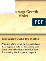 Three Stage Growth Model