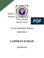 Tugas 3 Bahasa Indonesia - LAPORAN ILMIAH